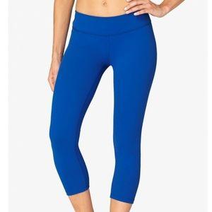 Beyond Yoga Gathered Hem Cobalt Blue Crop Leggings